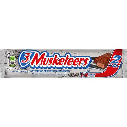 3 Musketeers® 2 to go
