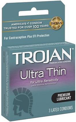 TROJAN™ Ultra Thin™ Lubricated Latex Condoms - 3 ct