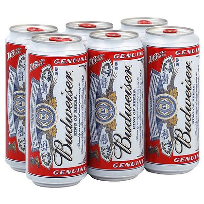 Budweiser® Beer - 6pk / 16oz Cans