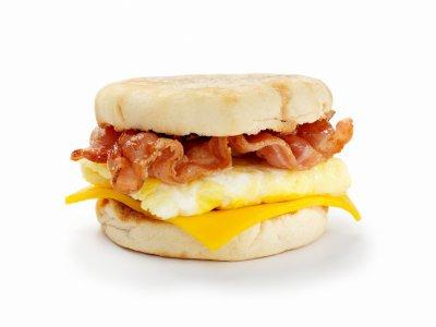 Bacon, Egg & Cheese Breakfast Sandwich