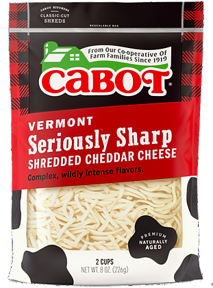 Seriously Sharp Shredded Cheddar Cheese