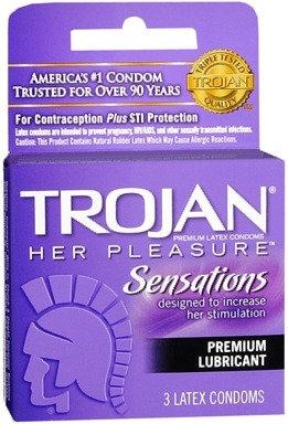 TROJAN™ Her Pleasure™ Lubricated Latex Condoms - 3 ct