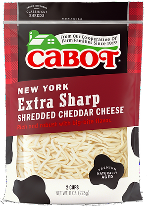 Cabot New York Extra Sharp Shredded Cheddar Cheese