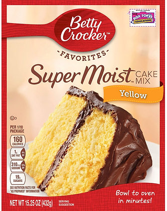 Betty Crocker™ Super Moist Yellow Mix - 15.25oz