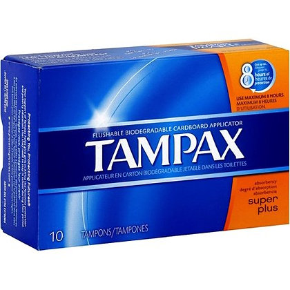 Tampax Super Plus Tampons 10 Count