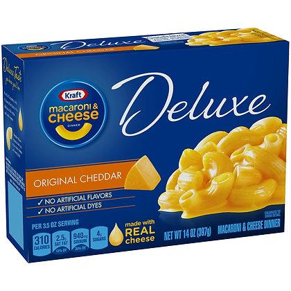 Kraft Deluxe Original Cheddar Macaroni & Cheese Dinner 14 oz