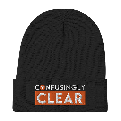 Confusingly Clear Embroidered Beanie