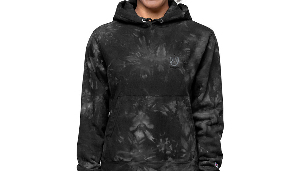 Sublab Records Unisex Champion tie-dye hoodie