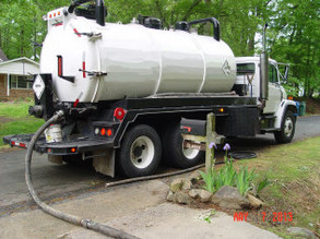 Every job starts with an industrial vacuum truck. The oil, sludge, and cleaning fluid are removed for proper disposal.