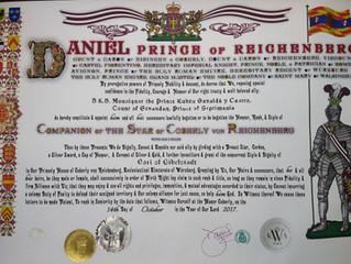 Nomination honorifique du prince de Reichenberg