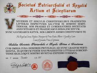 Désignation dans la Société Patriarcale et Royale des Arts et des Sciences