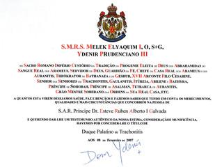 Désignation honorifique de la Maison Royale des Araméens et des Auranites
