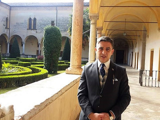 Voyage du prince Rubén Alberto en Italie