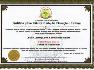 """L'Institut """"Julio Ribeíro Cortez"""" de l'éducation et de la culture distiguer au pri"""
