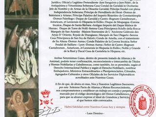 Accord Diplomatique avec la Maison Royale de Baktriana et Ariana