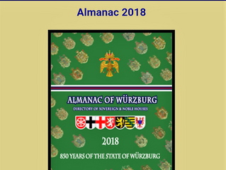 Almanac of Wurzburg 2018 - International Directory of Royal and Noble Houses