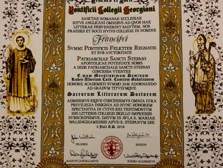 Le Pontificii Collegii Giorgiani décerne un Doctorat en Lettres Sacrées au prince de Septimanie