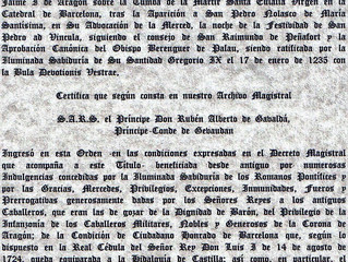 Le Prince de Septimanie et Comte de Toulouse-Gévaudan membre de l'Ordre Céleste, Royal et Milita