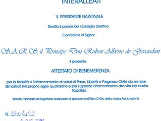 L'Association Italienne des Combattants Interalliés a rendu hommage au comte de Toulouse Gévaudan