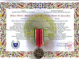 """Médaille """"Otto von Habsburg"""" pour le prince de Septimanie et comte de Toulouse-Gévaudan"""