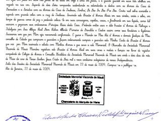 Certification de Noblesse et Registre des Armoiries par la Société Mémorial Vizconde de Mauá