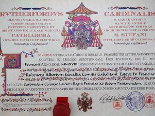 Cardinalem Coronae Laicum Regni Franciae ad Sedem Patriarchalem S. Stefani