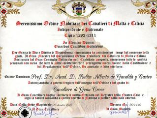 Son Altesse Royale reçoit une nouvelle nomination chevaleresques