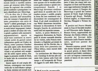 Publication de la presse italienne à propos de la dynastie mérovingienne: Altirpinia (quindicinale i