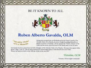 Nomination à l'Ordre des Chevaliers de La Mancha