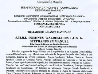 Accord Diplomatique avec la Maison Royale de Cataônia despot de Marasch