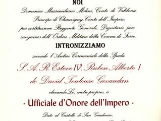 Nomination honorifique dans la Couronne Napoléonienne Italienne