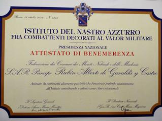 Désignation à l'Institut Nastro Azzurro parmi les Combattants décorés de bravoure militaire