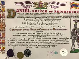 Désignation honorifique pour Monseigneur le prince de Septimanie et comte de Gèvaudan