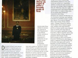 Publication de la presse italienne à propos de la dynastie mérovingienne: Albatros (mensile di attua