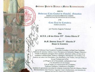 Accord Diplomatique avec la Maison Royale de Cantabrie en Hispanie