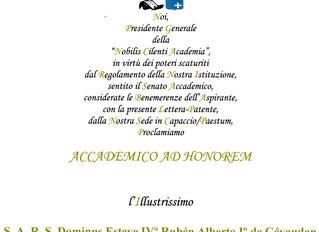 Désignation dans le Nobilis Cilenti Academia