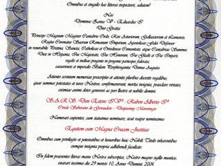 Son Altesse Royale a été nommée Chevalier Grand-Croix de Justice de l'Ordre Royal de Zenón Vº de