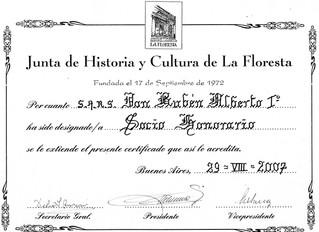 """Nomination au Conseil d'Histoire et de Culture de """"La Floresta"""""""