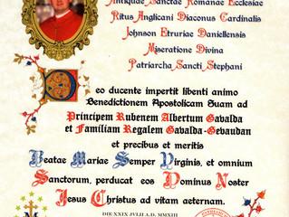 Bénédiction Apostolique du Patriarche de Saint Etienne