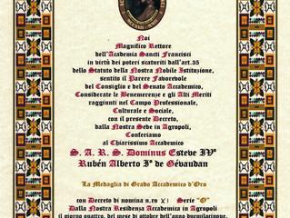 Médaille d'or académique de l'Académie Sancti Francisci