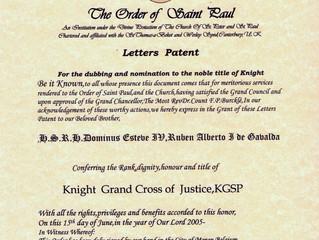 Désignation dans l'Ordre de Saint Paul