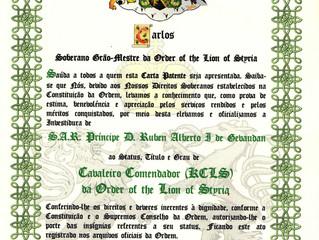 Nomination dans l'Ordre du Lion de Styrie