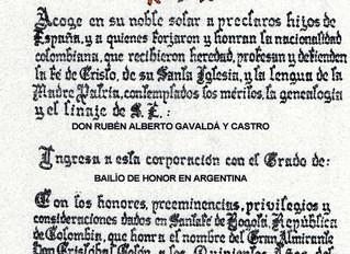 """Nomination dans le """"Estamento de Hijosdalgo""""du Nouveau Royaume de Grenade"""