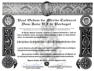 Ordre Royal du Mérite Culturel Joao VIº du Portugal