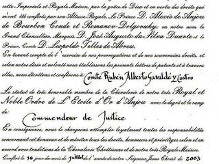 Désignation honorifique pour Monseigneur le Comte de Gèvaudan
