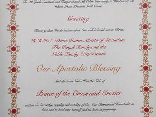 Bénédiction du Patriarche et noble concession dans l'Église Apostolique Orthodoxe de l'Inde
