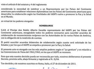 """Désignation à l'Internationale Académie Diplomatique """"Pax et Salus"""""""