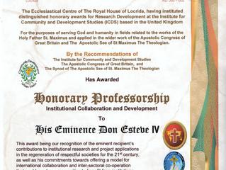 Chaise honoraire au Centre Ecclésiastique de Grande-Bretagne