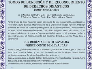 La reconnaissance des droits dynastiques par l'Ordre de Saint-Jacques, Église orthodoxe