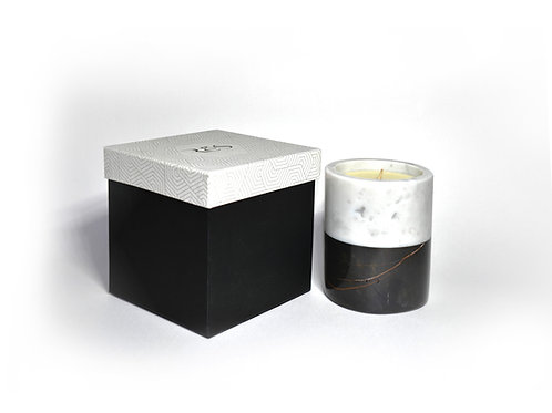 Marble Beeswax Candle BMNB12